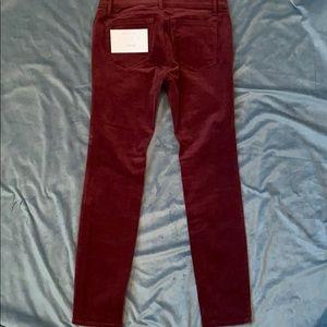 LOFT Pants - LOFT Modern Skinny Burgundy Cords